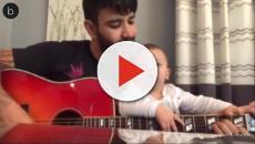 Assista: Gusttavo Lima toca violão para o filho e reação emociona