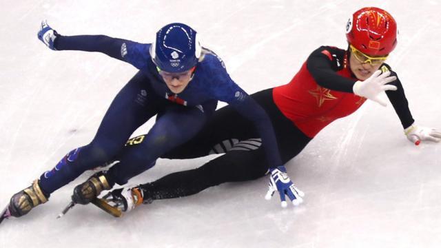 Juegos Olímpicos Elise Christie llevada al hospital después de accidente