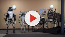 Watch a robot dog fights back against human to open the door