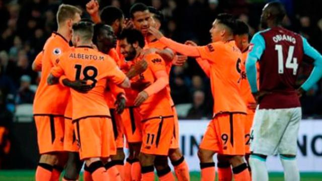Premier League: Liverpool derrota al West Ham 4-1