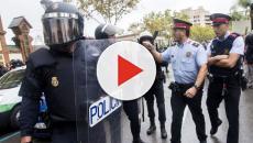 Confrontación entre manifestantes en Barcelona