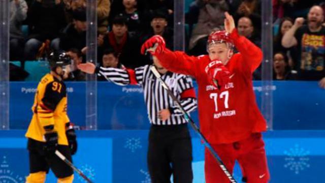 Rusia arrebata oro olímpico de hockey varonil a Alemania, en PyeongChang 2018