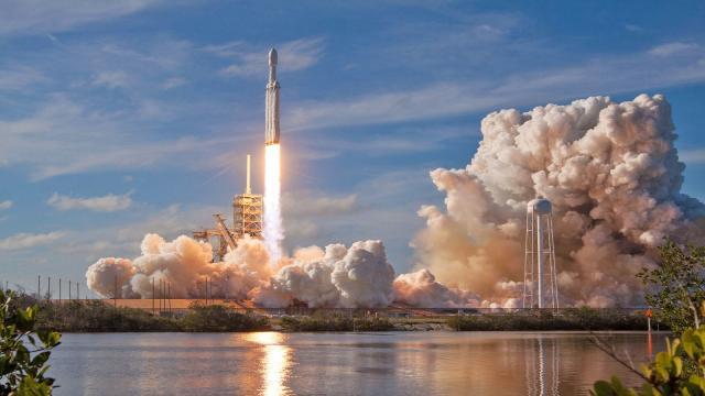 Elon Musk en el lanzamiento de Falcon Heavy
