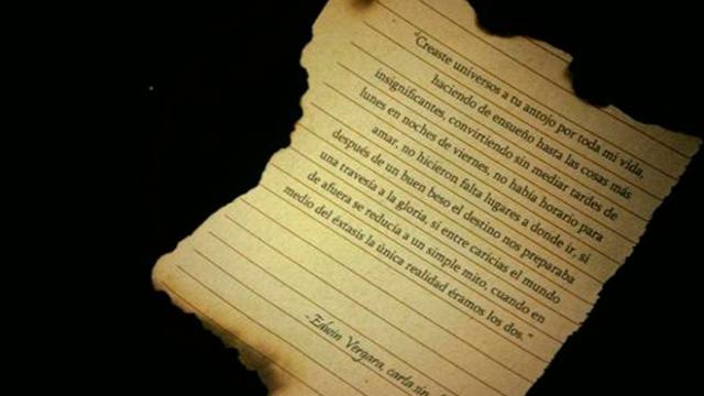 Una de las muchas cartas sin enviar