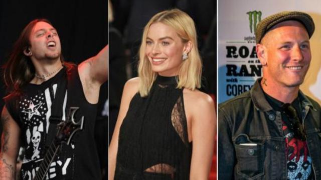 Margot Robbie sorprendida por Bullet For My Valentine y Corey Taylor de Slipknot