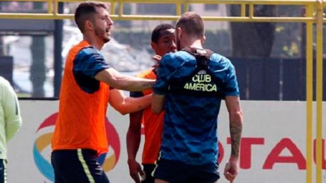 Jéremy Ménez y Andrés Ibargüen protagonizan pelea en Entrenamiento