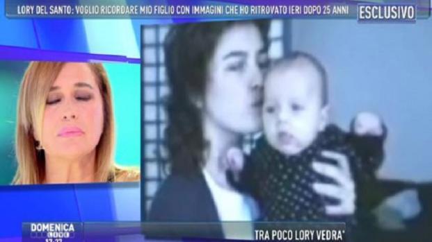 VIDEO Domenica Live: Lory Del Santo ricorda il figlio morto e scoppia a piangere