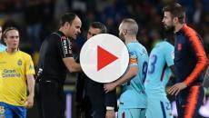 BARÇA: Gerard Piqué indignado con el arbitraje en Las Palmas
