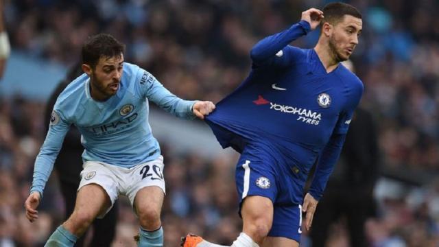 Hazard no fue suficiente como falso 9 en el Chelsea vs. Man City