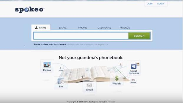 Give Your Name a Price Tag: Search for and buy people's Information on Spokeo