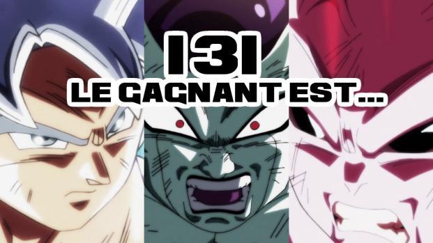 Dragon Ball Super 130-131 : La fin du tournoi révélée, qui obtiendra les SDB ?