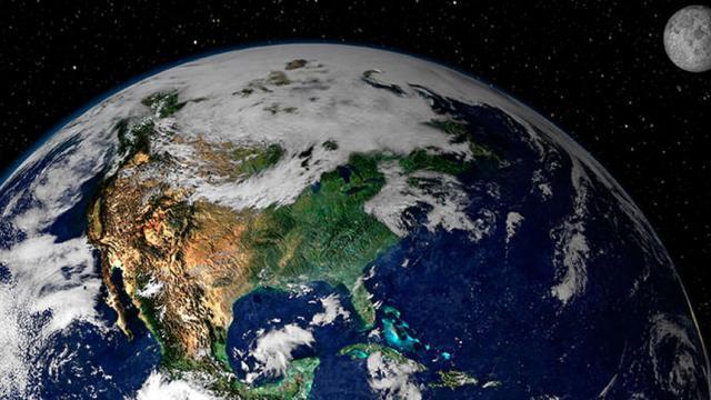 La Tierra, nuestro hogar en el basto universo espacial.