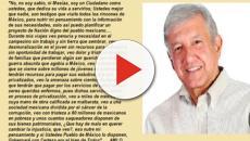 Sencilla carta con mensaje de AMLO, resquebraja la guerra sucia de Peña Nieto