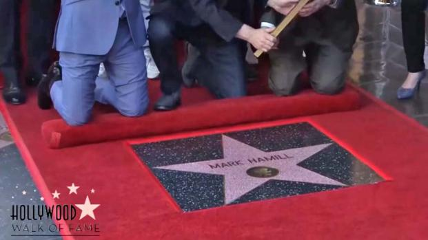'Star Wars' star Mark Hamill honored with star on Hollywood Walk of Fame