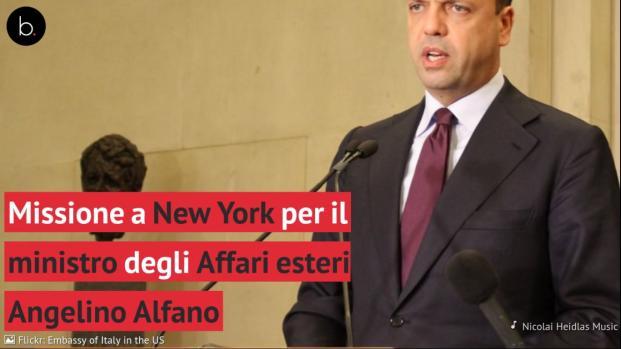 Alfano a New York sul tema OSCE