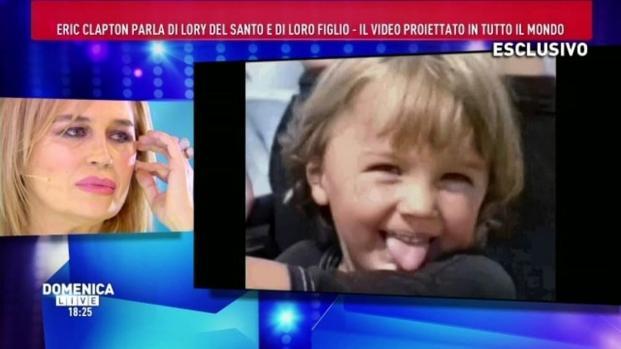 Video: Lory Del Santo in lacrime a Domenica Live