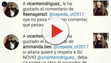 Los comentarios de Vicente, novio de Aitana, hacia Cepeda