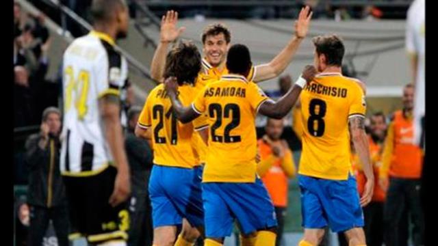 La Juventus vence al Udinense y va por el título