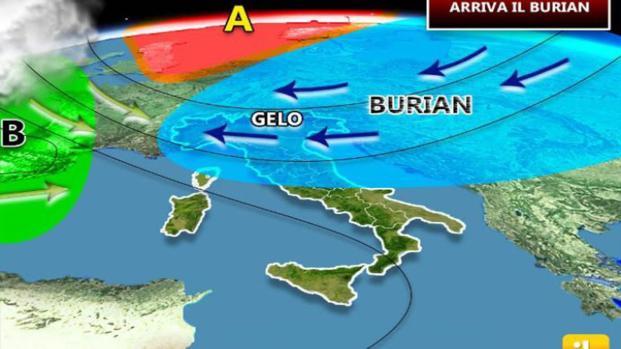 A breve il Maltempo tornerà a ricoprire l'Italia nelle zone settentrionali