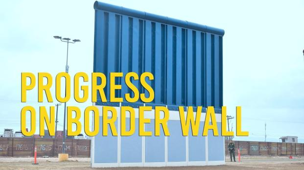 Trump left humiliated after rambling speech visiting border wall prototype