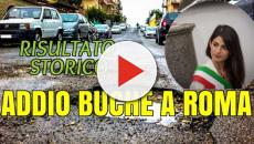 Danni da buche di strada a Roma