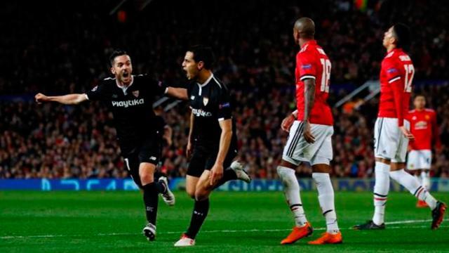 El Sevilla hace historia al pasar a cuartos y deja en fracaso a Mou y su United
