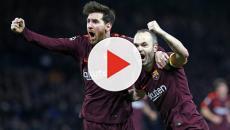 Messi está chateado com Iniesta
