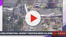Prefabricated foot-bridge over busy highway collapses in Florida