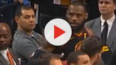 LeBron James yells at coach Ty Lue during Portland Trail Blazers game