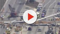 Vídeo: Cae puente peatonal en Florida