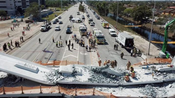 At least four dead in FIU bridge collapse in Miami