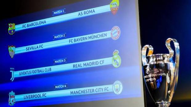 UEFA Champions League, todo listo para el sorteo de cuartos