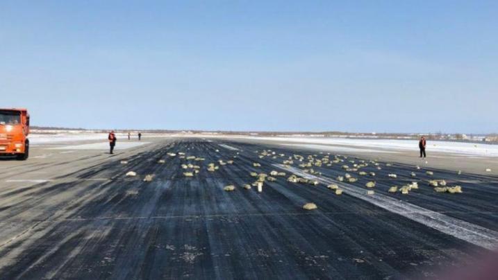 Moradores da Sibéria buscam ouro que caiu de avião