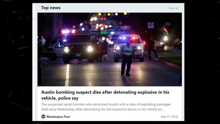 Suspected bomber in Austin, Texas is dead