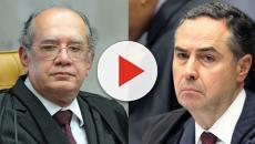 Ministros Mandes e Barroso batem boca no STF