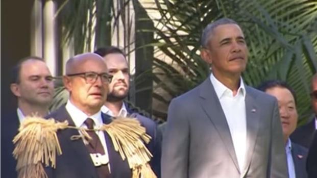 Former President Barack Obama is visiting New Zealand
