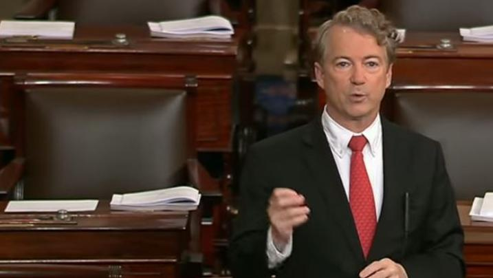 Senator Rand Paul determined to block Trump's nominees for CIA and Sec of State.