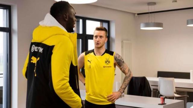 Usain Bolt entrenó con el Borussia Dortmund