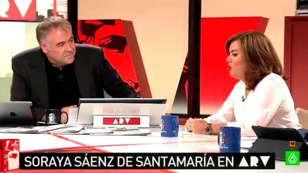 Los telediarios de La Sexta nunca han atacado a Soraya Saénz de Santamaría