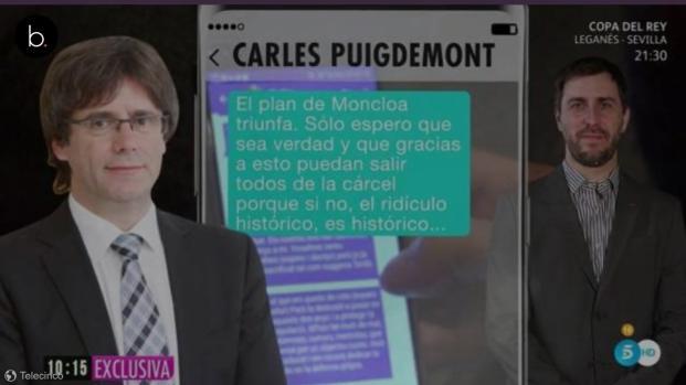 Cataluña: Puigdemont y Comín denuncian a Ana Rosa en Bélgica
