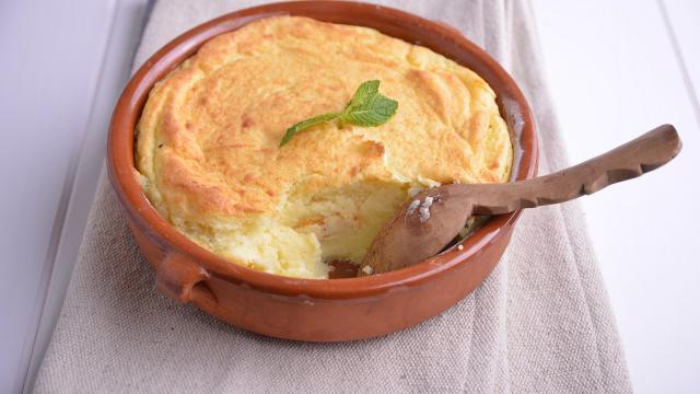 Receta de soufflé de chocolate blanco con aroma a naranja