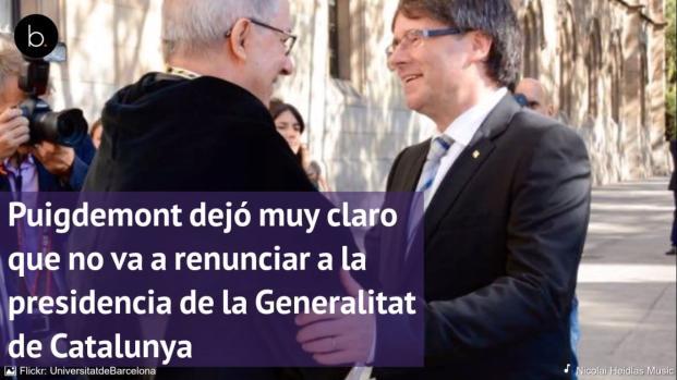 ¿Puede ser Puigdemont presidente de la Generalitat de Catalunya todavía?