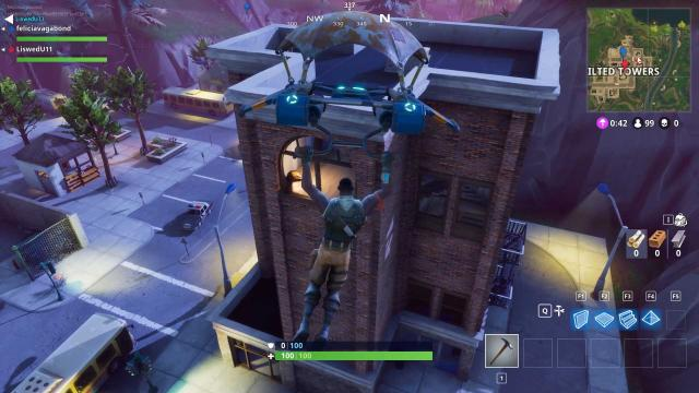 El cometa de Fortnite podría destruir torres inclinadas