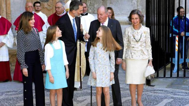 La familia real tiene sus diferencias que se hicieron notar en publico