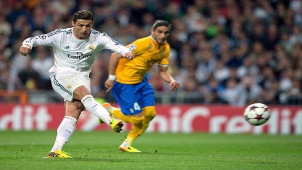 la UEFA Champions League en el Santiago Bernabéu