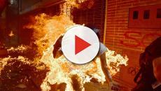 Ronaldo Schemidt gana con la imagen del venezolano envuelto en llamas