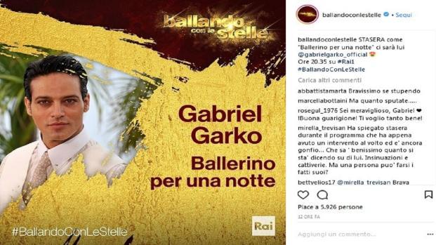 Gabriel Garko a 'Ballando con le stelle', problemi al viso?