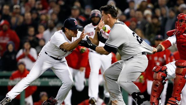 Las bancas se borraron dos veces en los Red Sox-Yankees