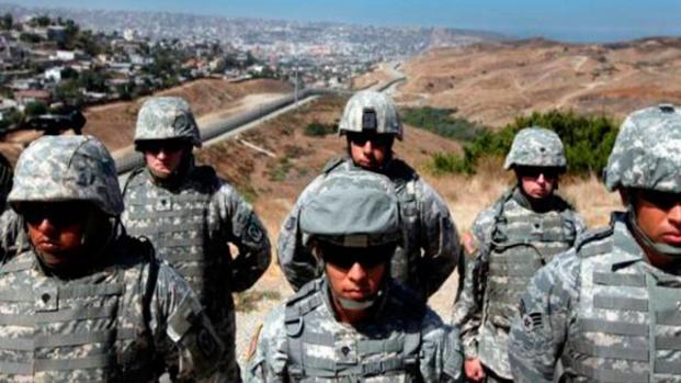 Estados Unidos envía agentes de las Fuerzas Armadas a frontera mexicana