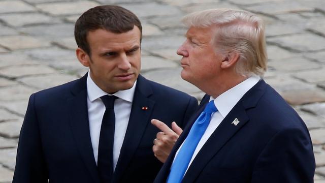 Emmanuel Macron convenció a Trump de como atacar Siria